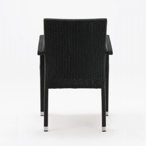 Bolero Wicker Armchairs Charcoal (Pack of 4) - DL477